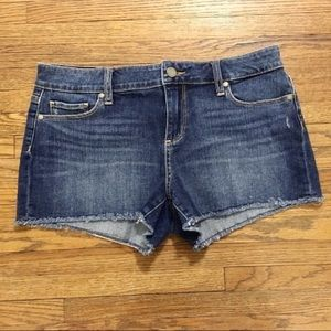 PAIGE | Raw Edge Hem Denim Jean Cut Offs Sz29/8